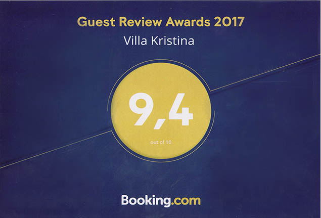 Villa Kristina - GUEST REVIEW AWARDS 2017